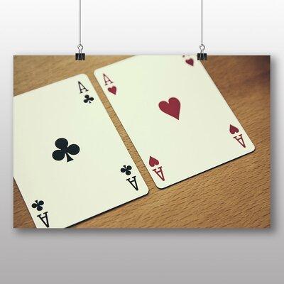 Big Box Art Texas Holdem Cards Photographic Print