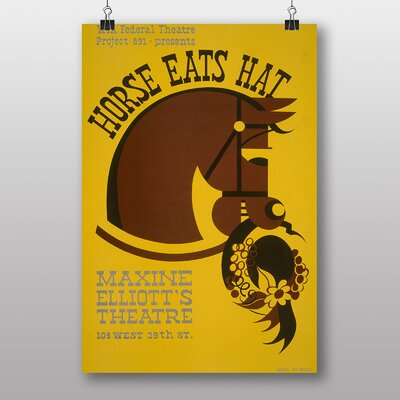 Big Box Art Horse Eats Hat Vintage Advertisement