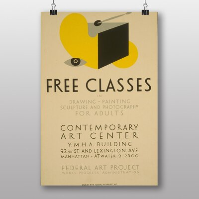 Big Box Art Free Classes Vintage Advertisement
