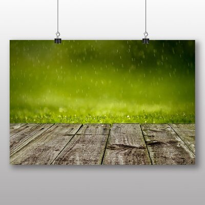 Big Box Art Rain Drops Water No.1 Graphic Art on Canvas