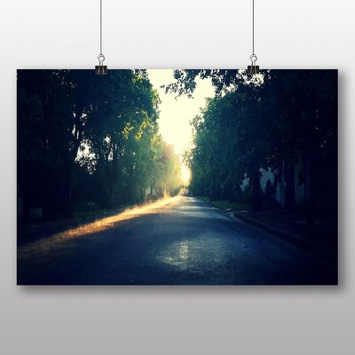 Big Box Art 'Sun Over the Tree Lined Road' Photographic Print
