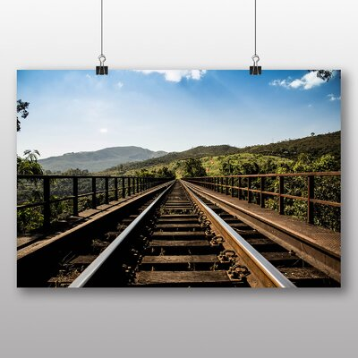 Big Box Art 'Train Tracks to the Hills' Photographic Print