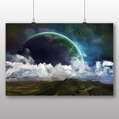 Big Box Art Space Landscape Graphic Art Wrapped on Canvas