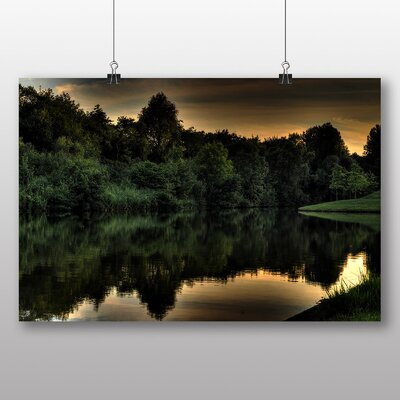 Big Box Art 'Trees Reflecting in the Water Dusk' Photographic Print