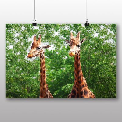 Big Box Art Two Giraffes Photographic Print Wrapped on Canvas