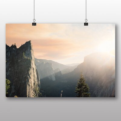 Big Box Art Sunlight over Mountains Photographic Print