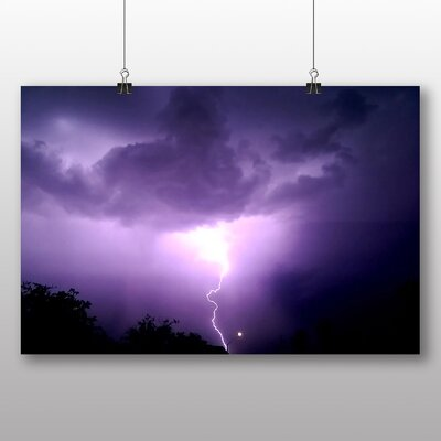 Big Box Art Thunder Lightening Storm No.7 Graphic Art Wrapped on Canvas