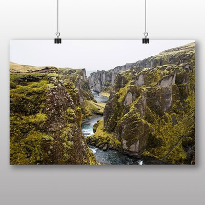 Big Box Art Stream Path Photographic Print Wrapped on Canvas