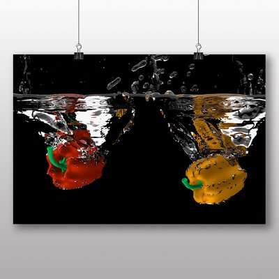 Big Box Art Red and Yellow Peppers Photographic Print