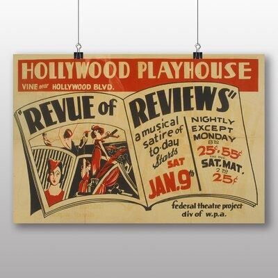 Big Box Art Revue of Reviews Vintage Advertisement