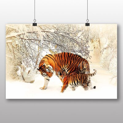 Big Box Art Tigers Graphic Art Wrapped on Canvas