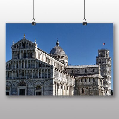 Big Box Art The Leaning Tower of Pisa Italy No.3 Photographic Print on Canvas