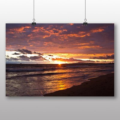 Big Box Art Sunset after the Storm Photographic Print on Canvas