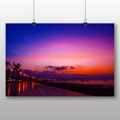 Big Box Art Sunset No.8 Photographic Print on Canvas