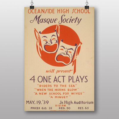 Big Box Art Masque Society Vintage Advertisement