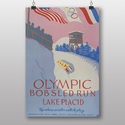 Big Box Art Olympic Bobsled Run Vintage Advertisement