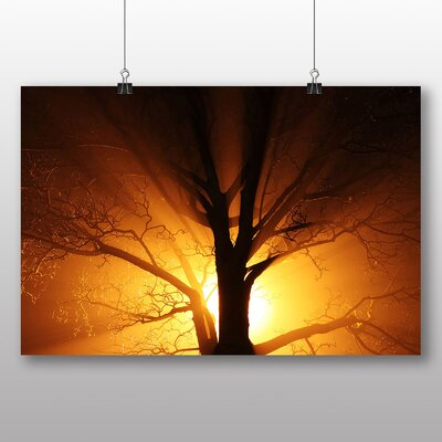 Big Box Art Sunset through Tree No.2 Photographic Print on Canvas