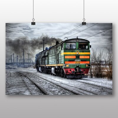 Big Box Art Train Locomotive No.1 Photographic Print Wrapped on Canvas