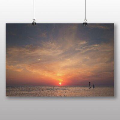 Big Box Art Sunset over The Sea Photographic Print on Canvas