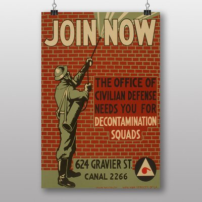 Big Box Art Join Now Vintage Advertisement