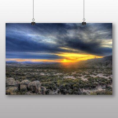 Big Box Art Sunset Over The Desert Photographic Print on Canvas