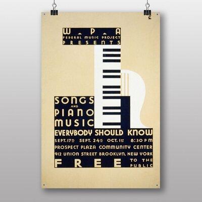 Big Box Art Piano Music Vintage Advertisement
