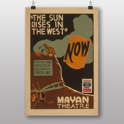 Big Box Art The Sun Rises in The West Vintage Advertisement