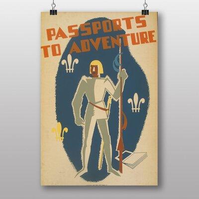 Big Box Art Passports to Adventure Vintage Advertisement