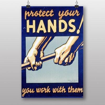 Big Box Art Protect Your Hands Vintage Advertisement