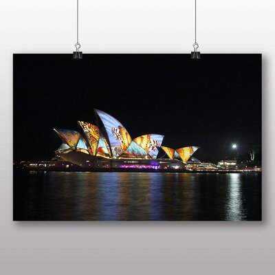 Big Box Art Sydney Opera House Harbour Australia No.12 Photographic Print Wrapped on Canvas