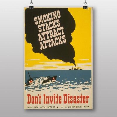Big Box Art Smoking Attracts Attacks Vintage Advertisement