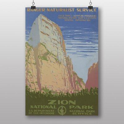 Big Box Art Zion National Park Vintage Advertisement