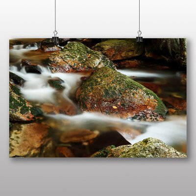Big Box Art Rocks and Stream Photographic Print Wrapped on Canvas