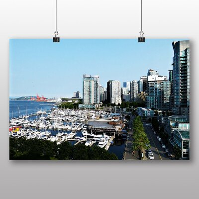 Big Box Art Vancouver Skyline City Canada No.5 Photographic Print Wrapped on Canvas
