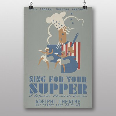 Big Box Art Sing for Your Supper Vintage Advertisement