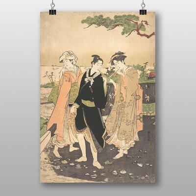"Big Box Art ""Japanese Oriental Along the Seashore at Futami"" by Utagawa Toyokuni Art Print"