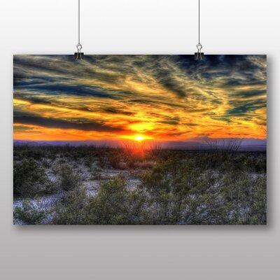 Big Box Art Texas Sunset USA Photographic Print