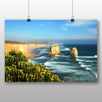 Big Box Art Victoria Australia Twelve Apostles Cliffs Beach No.1 Photographic Print on Canvas