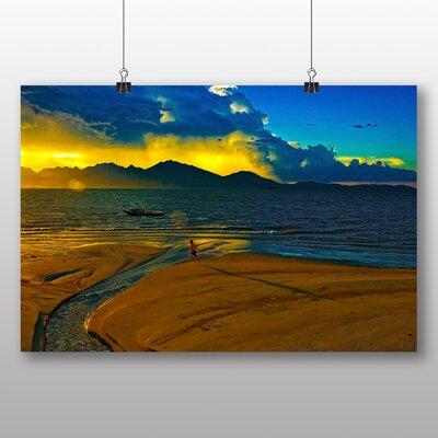 Big Box Art Running in the Sunset Graphic Art