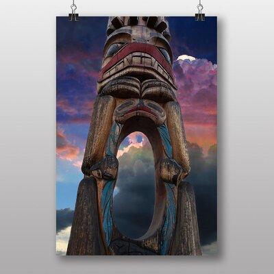Big Box Art Totem Pole Native American No.3 Graphic Art