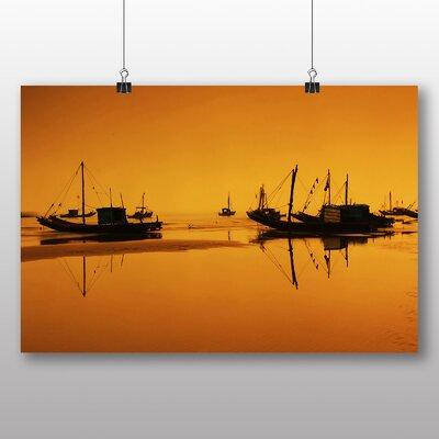 Big Box Art Sunset Beach Boats No.3 Photographic Print