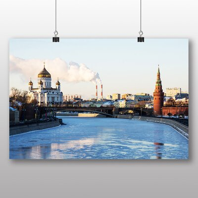 Big Box Art The Kremlin Moscow Russia Photographic Print Wrapped on Canvas
