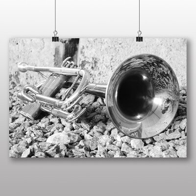 Big Box Art Trumpet Photographic Print Wrapped on Canvas