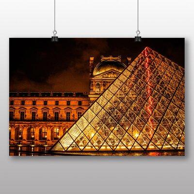 Big Box Art The Louvre Pyramid Paris France No.4 Photographic Print