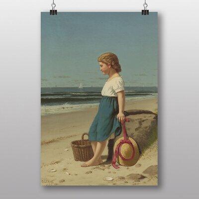 "Big Box Art ""Young Girl on the Beach"" by Samuel S. Carr Art Print"