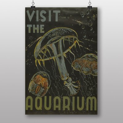 Big Box Art Visit The Aquarium No.2 Vintage Advertisement