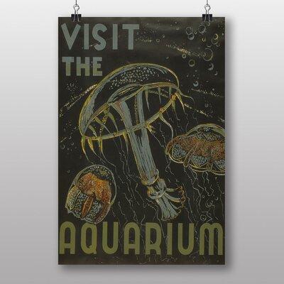 Big Box Art Visit The Aquarium Vintage Advertisement