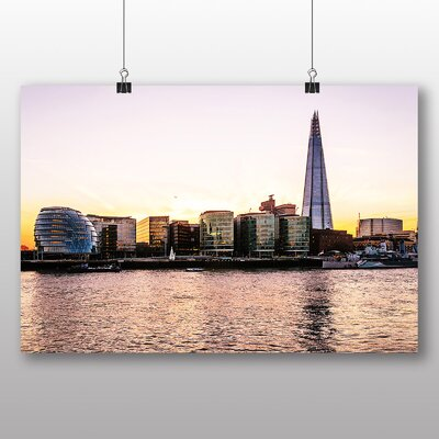 Big Box Art The Shard London Skyline Photographic Print Wrapped on Canvas