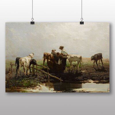 Big Box Art 'Calves at a Trough' by Willem Maris Art Print