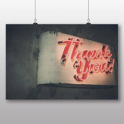 Big Box Art 'Thank You Neon Sign' Photographic Print